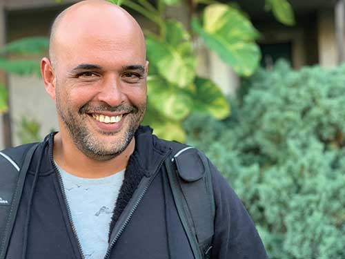 """Ivan Torres escaped Cuba in a makeshift boat after 16 tries. """"I was born again here,"""" said Torres. Torres told his story as part of a lecture series funded by Florida Humanities."""