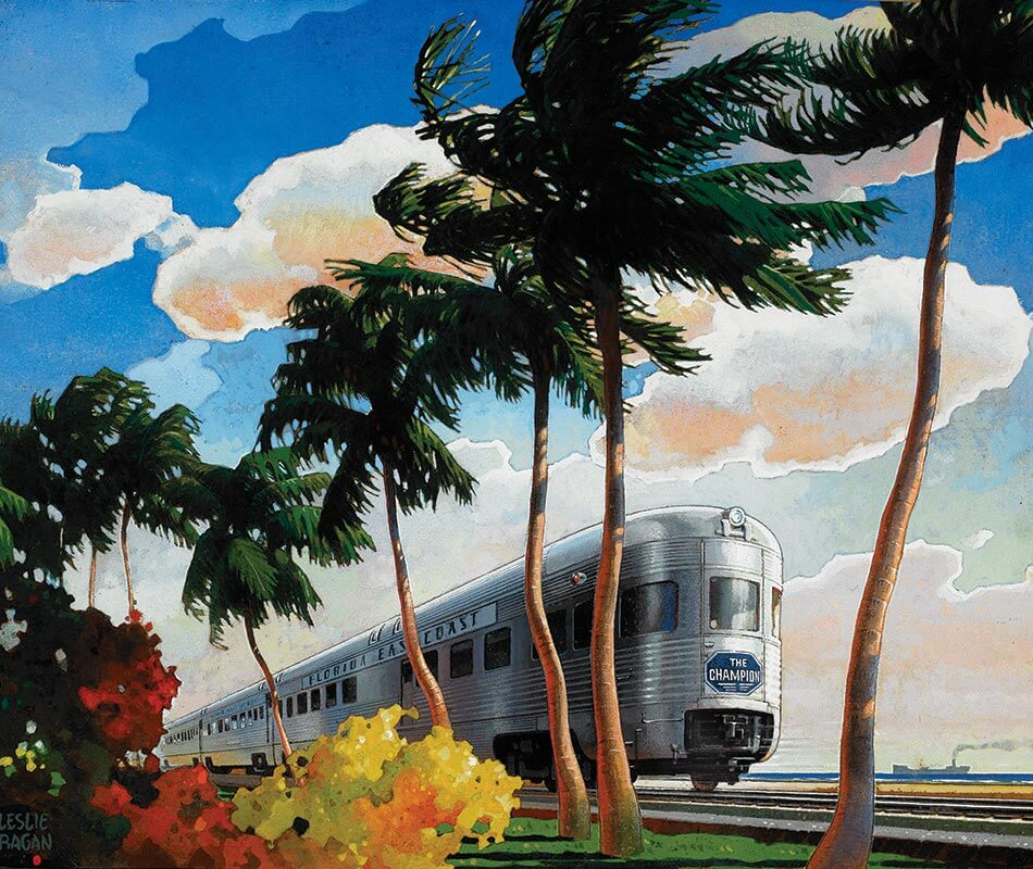 Leslie Ragan (American, 1897–1972) The Champion, Florida East Coast Undated, Watercolor and gouache on paper, 17 ½ x 21 in.